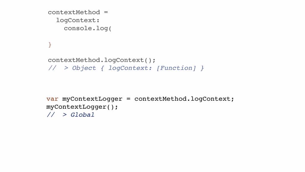 contextMethod = logContext: console.log( } ! co...