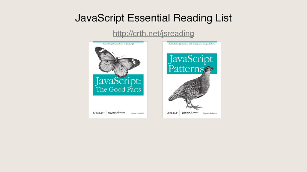 JavaScript Essential Reading List http://crth.n...