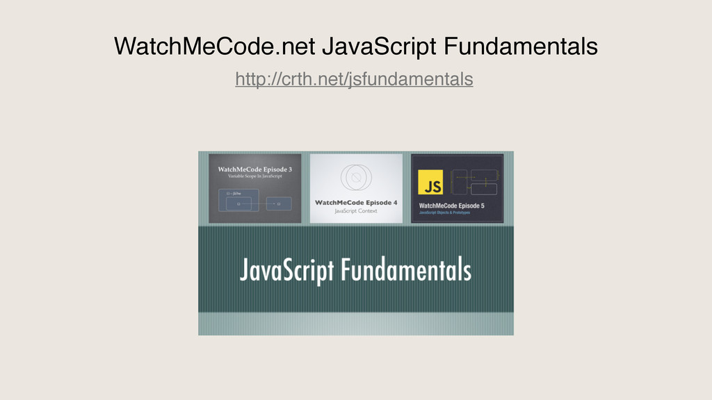 WatchMeCode.net JavaScript Fundamentals http://...