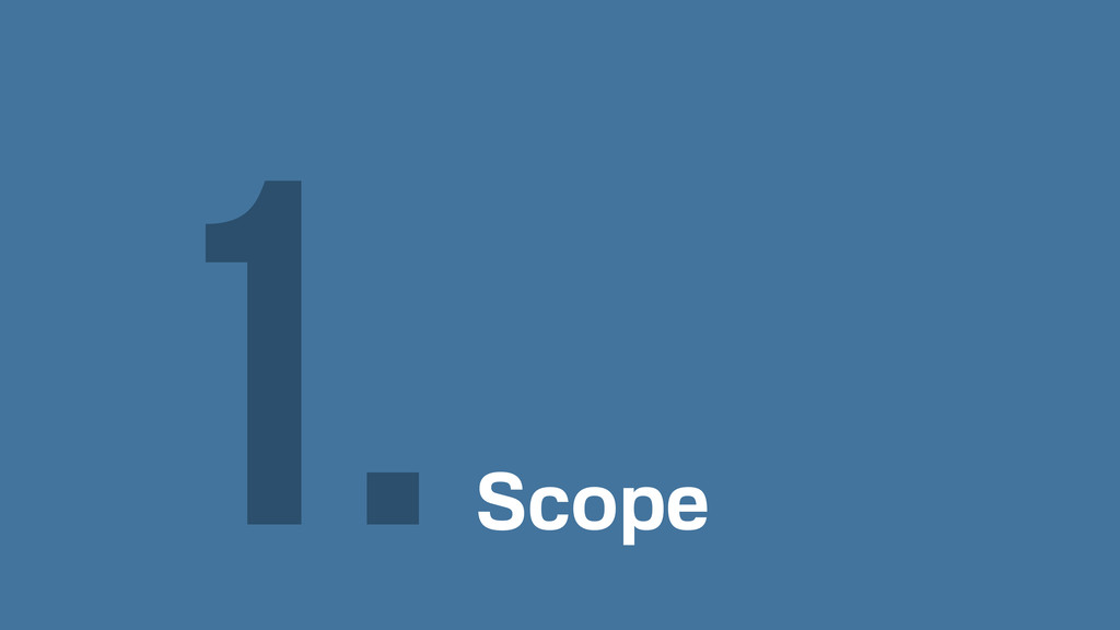 Scope 1.