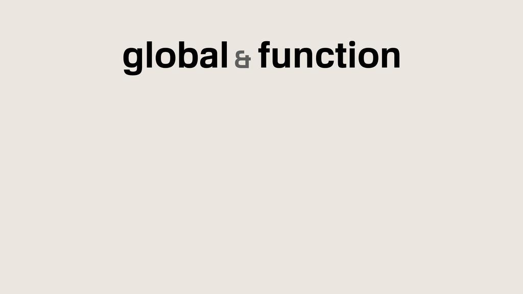 global& function