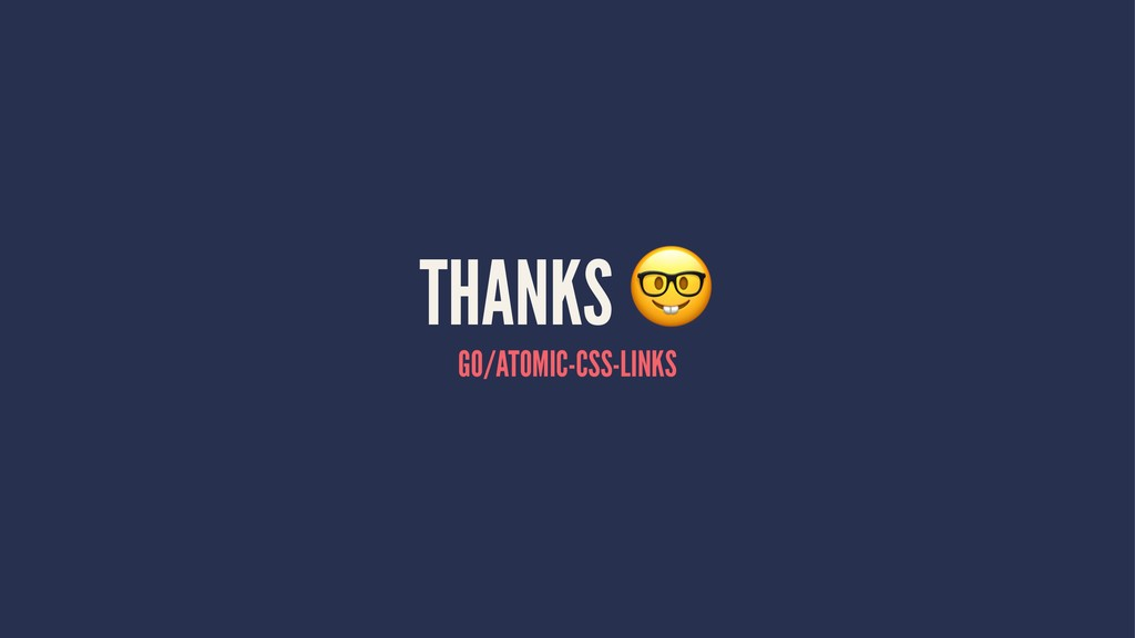 THANKS GO/ATOMIC-CSS-LINKS