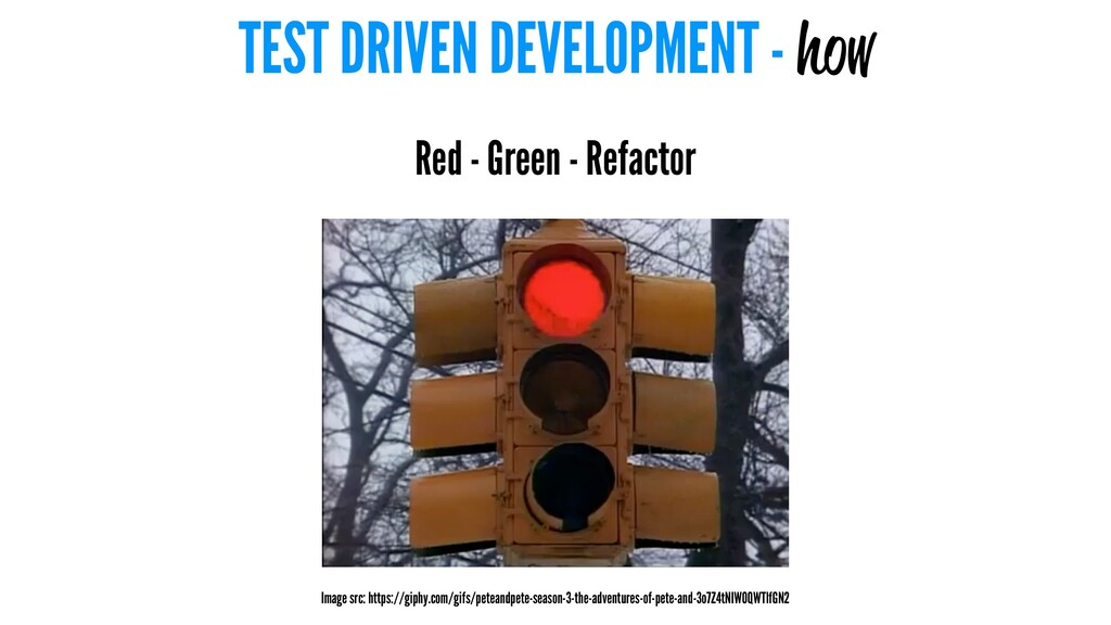 TEST DRIVEN DEVELOPMENT - how Red - Green - Ref...