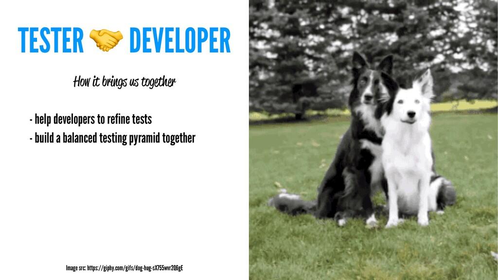 TESTER ! DEVELOPER How it brings us together - ...