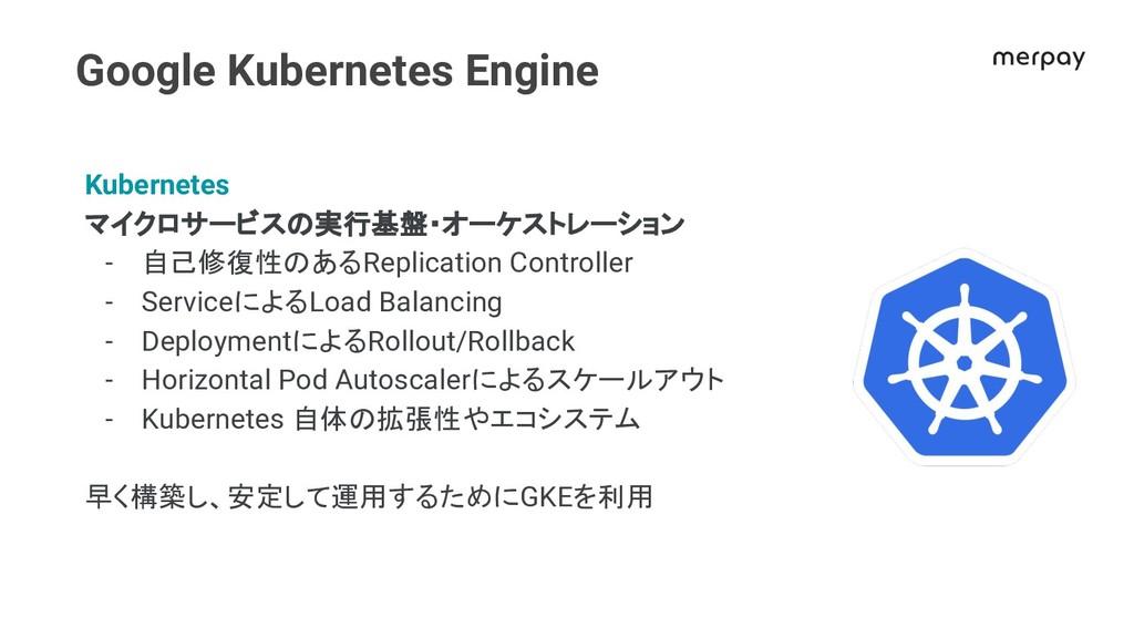 Google Kubernetes Engine Kubernetes マイクロサービス 実行...
