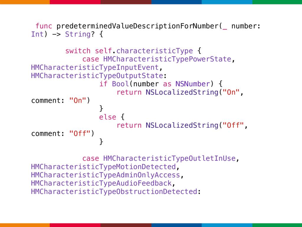 func predeterminedValueDescriptionForNumber(_ n...