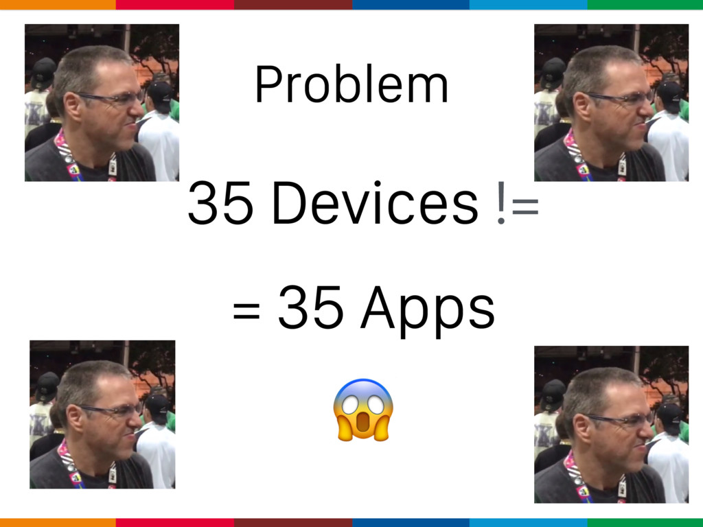 Problem 35 Devices != = 35 Apps