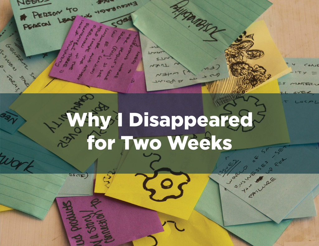 Why I Disappeared for Two Weeks