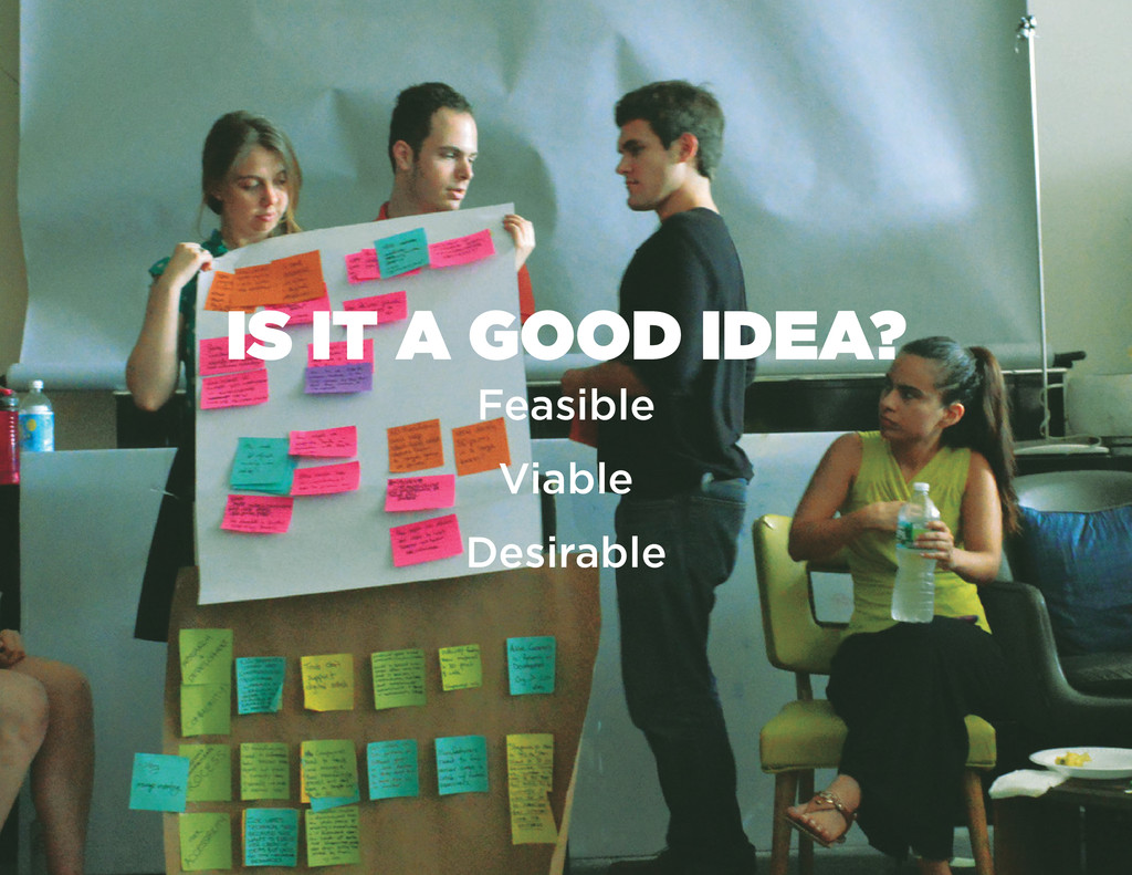 IS IT A GOOD IDEA? Feasible Viable Desirable