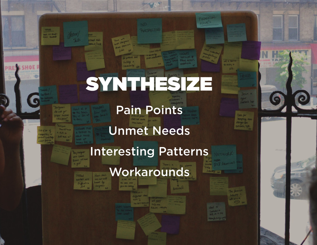 SYNTHESIZE Pain Points Unmet Needs Interesting ...