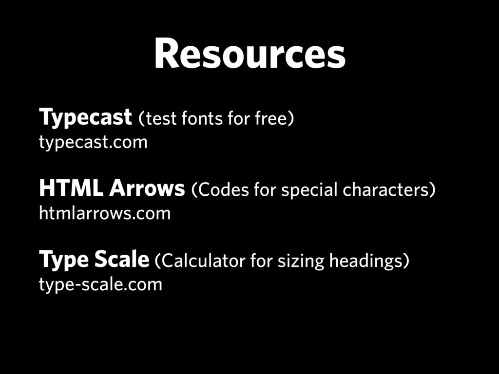 Resources Typecast (test fonts for free)