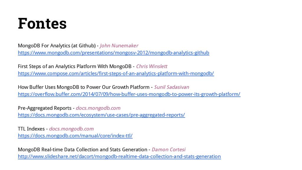 Fontes MongoDB For Analytics (at Github) - John...