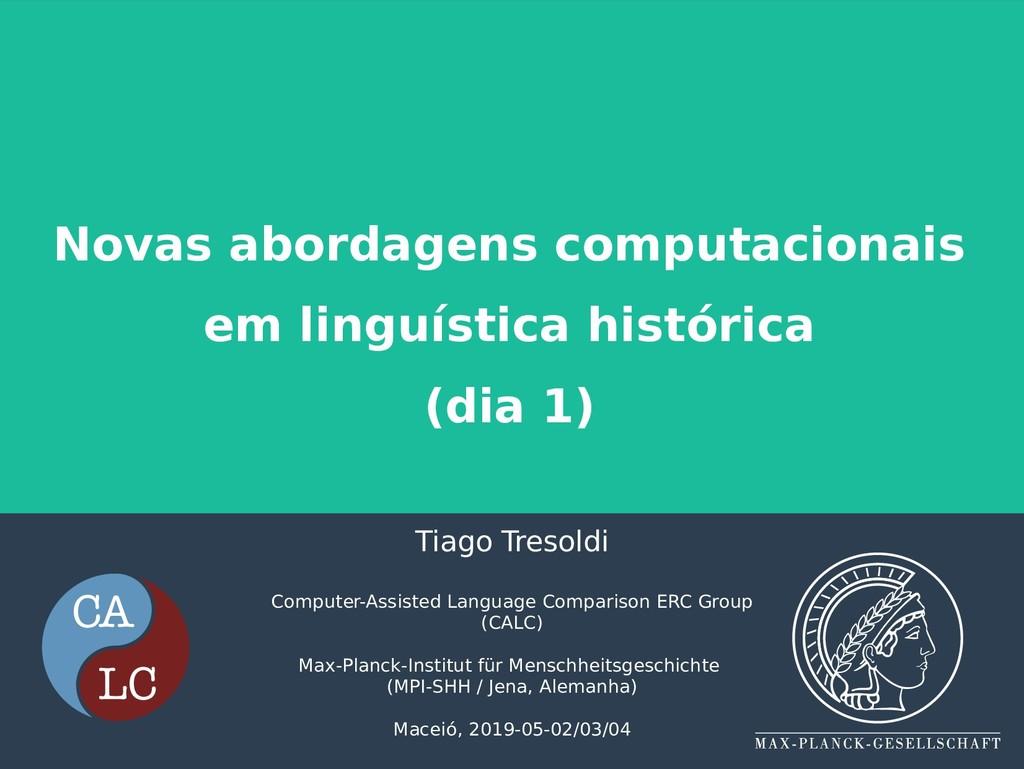 Novas abordagens computacionais em linguística ...