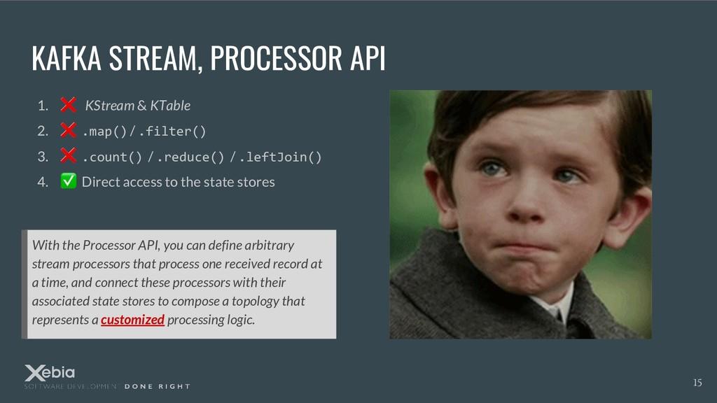 KAFKA STREAM, PROCESSOR API With the Processor ...