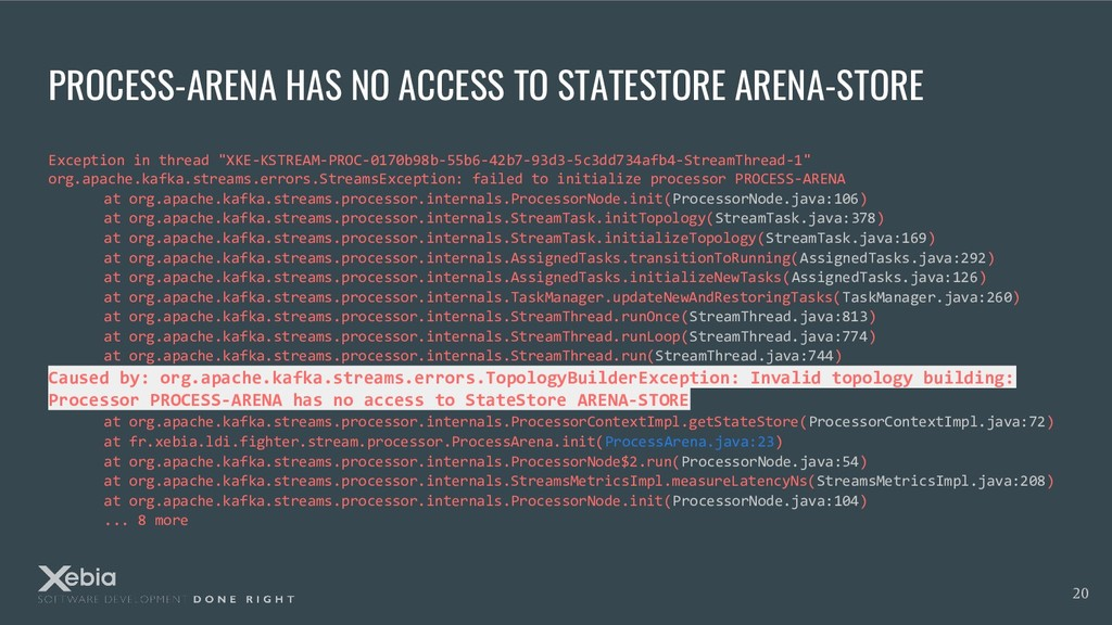 PROCESS-ARENA HAS NO ACCESS TO STATESTORE ARENA...