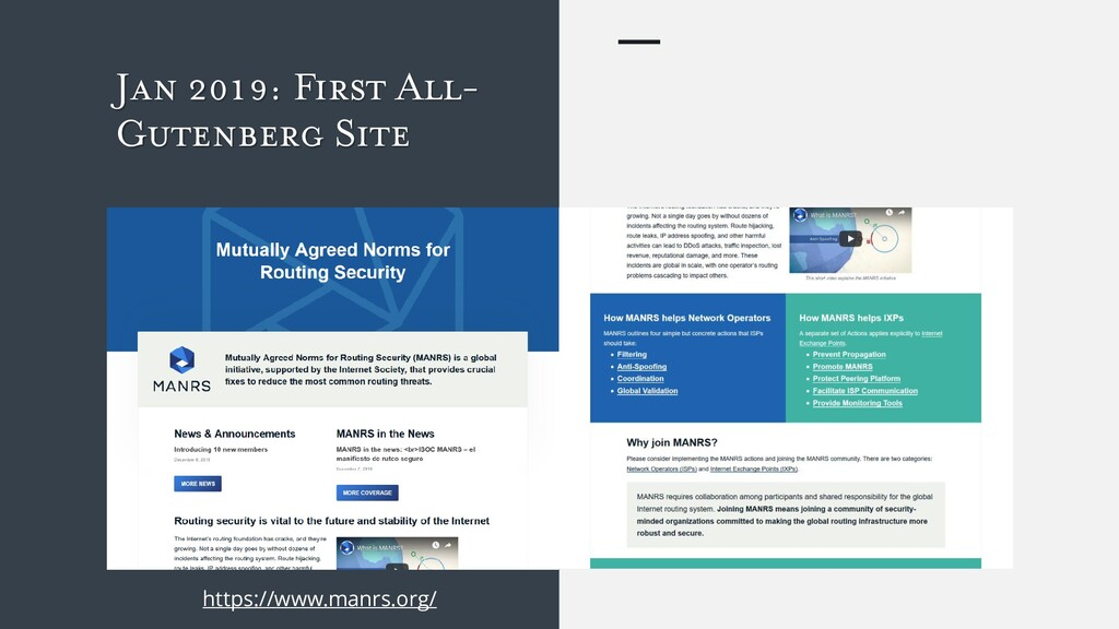 Jan 2019: First All- Gutenberg Site https://www...