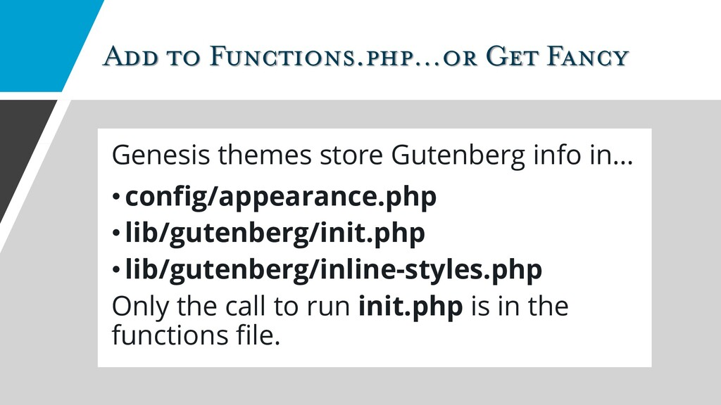 Add to Functions.php…or Get Fancy Genesis theme...