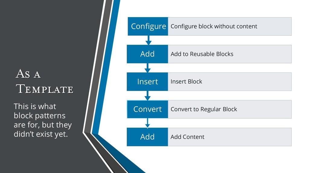 As a Template Add Add Content Convert Convert t...