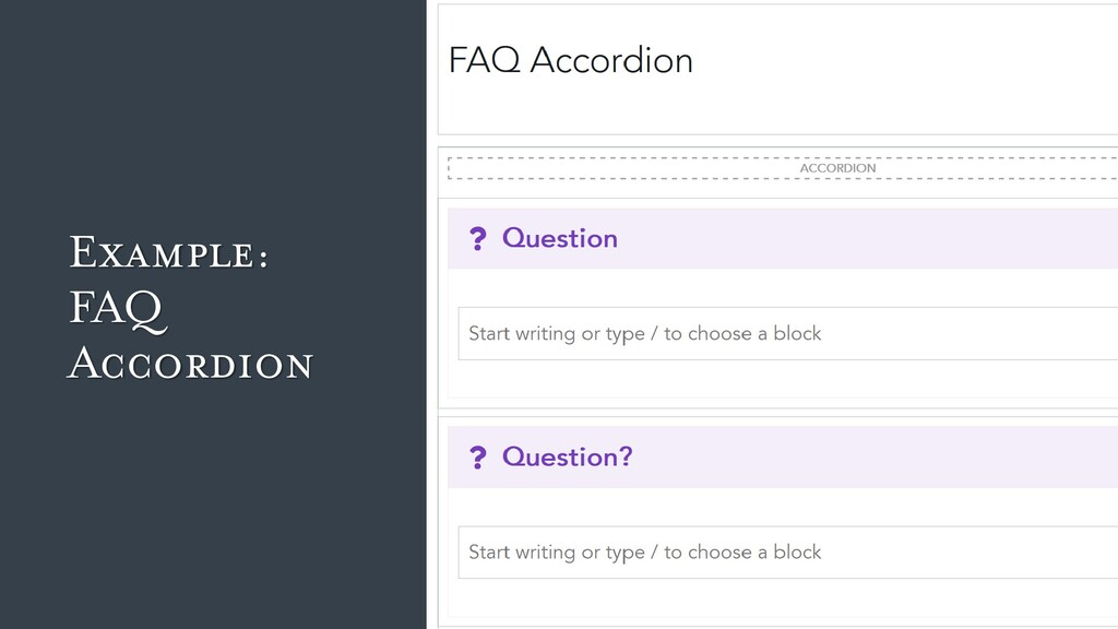 Example: FAQ Accordion