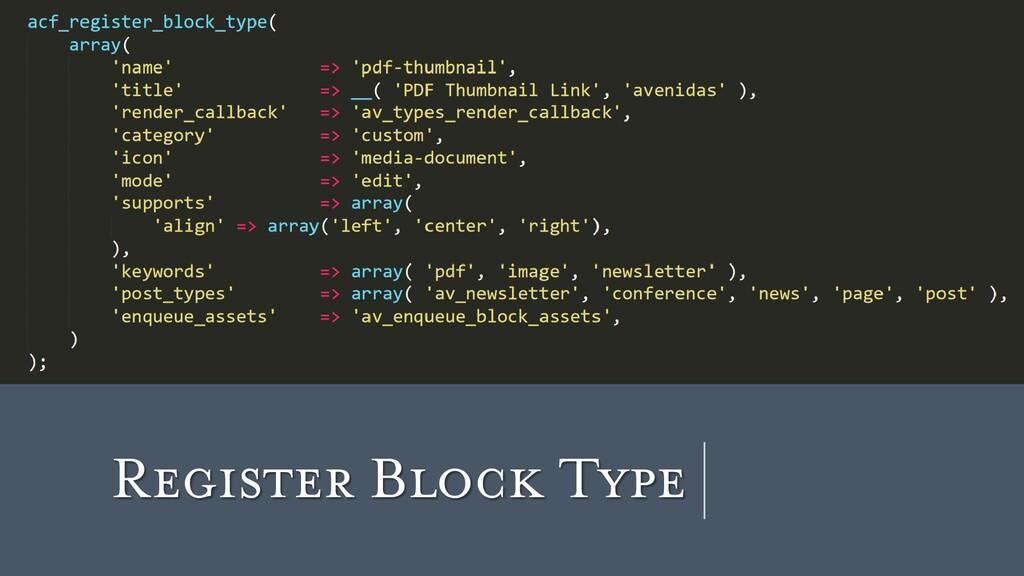 Register Block Type