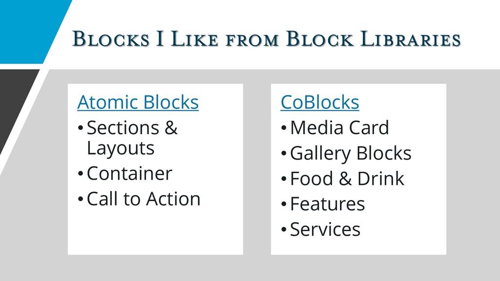 Blocks I Like from Block Libraries Atomic Block...