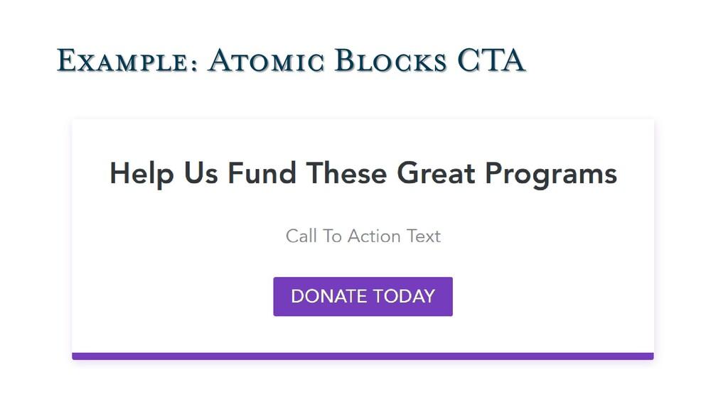 Example: Atomic Blocks CTA