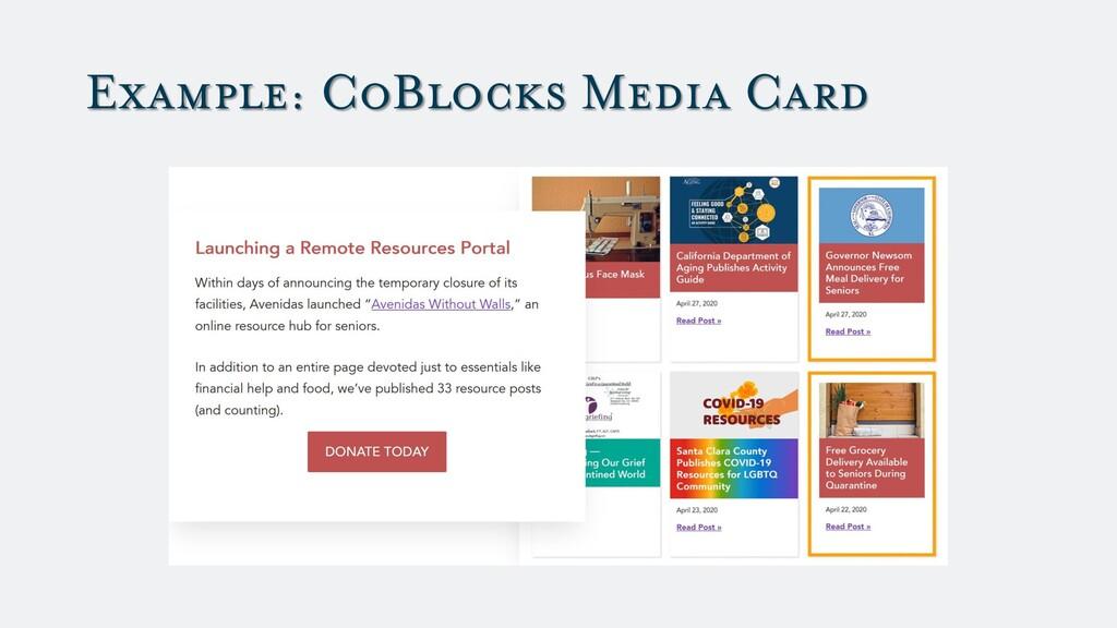 Example: CoBlocks Media Card