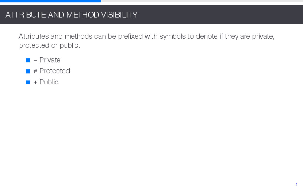 ATTRIBUTE AND METHOD VISIBILITY Attributes and ...