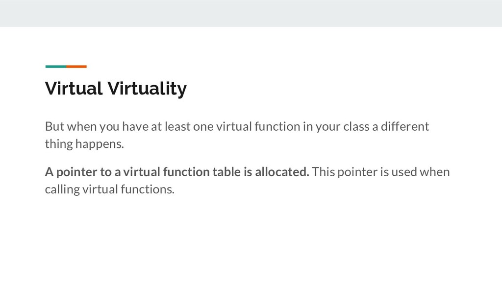 Virtual Virtuality But when you have at least o...