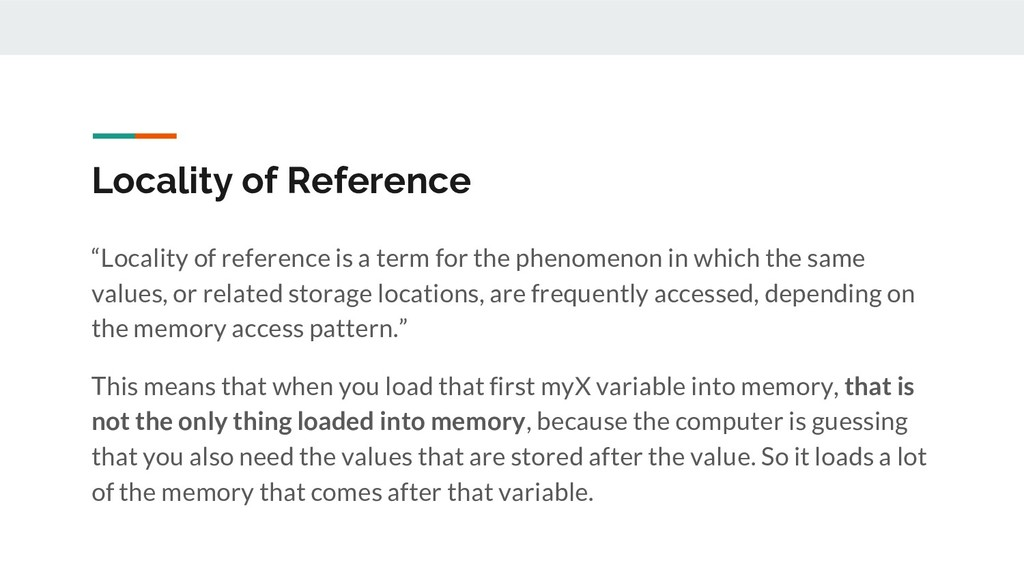 "Locality of Reference ""Locality of reference is..."