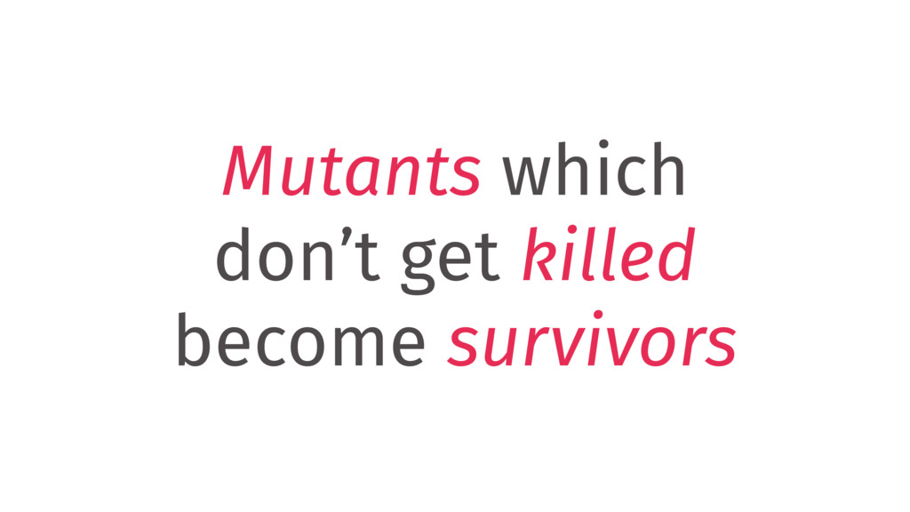 Mutants which