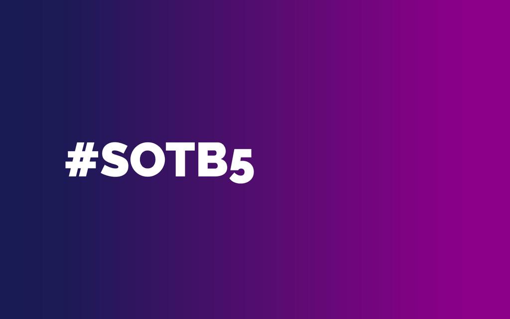 #SOTB5