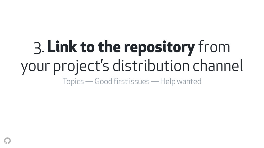 3. Link to the repository from your project's d...