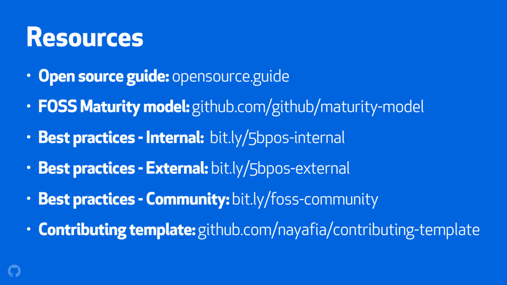 Resources • Open source guide: opensource.guide...