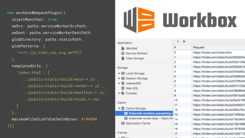 new workboxWebpackPlugin({