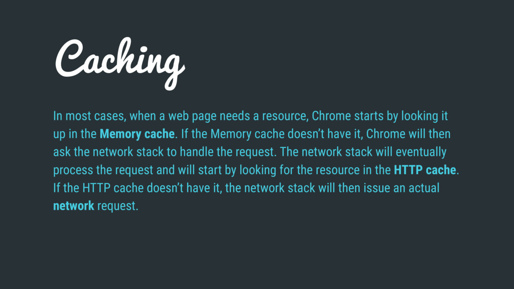 Caching In most cases, when a web page needs a ...