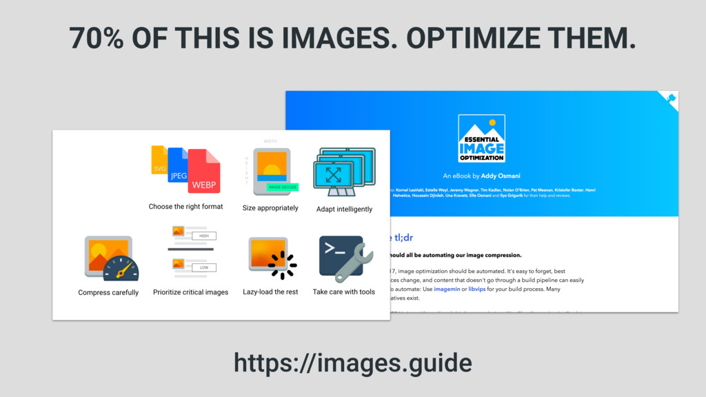 70% OF THIS IS IMAGES. OPTIMIZE THEM. https://i...