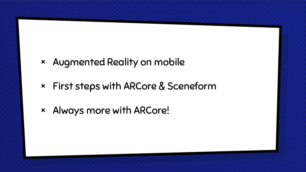 × Augmented Reality on mobile × First steps wit...