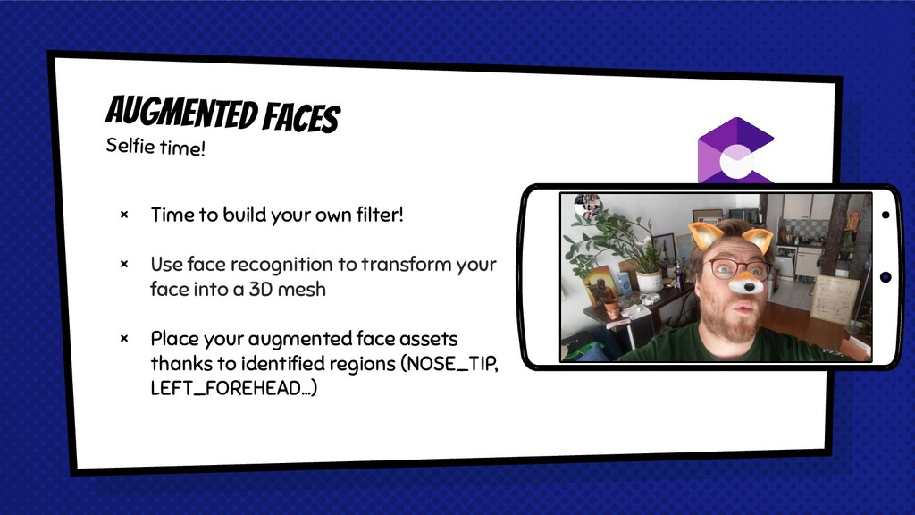 × Time to build your own filter! × Use face reco...