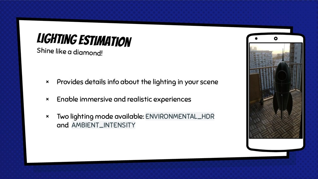 × Provides details info about the lighting in y...