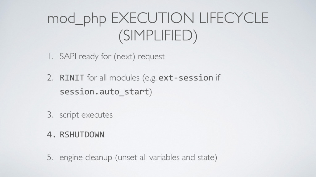 mod_php EXECUTION LIFECYCLE