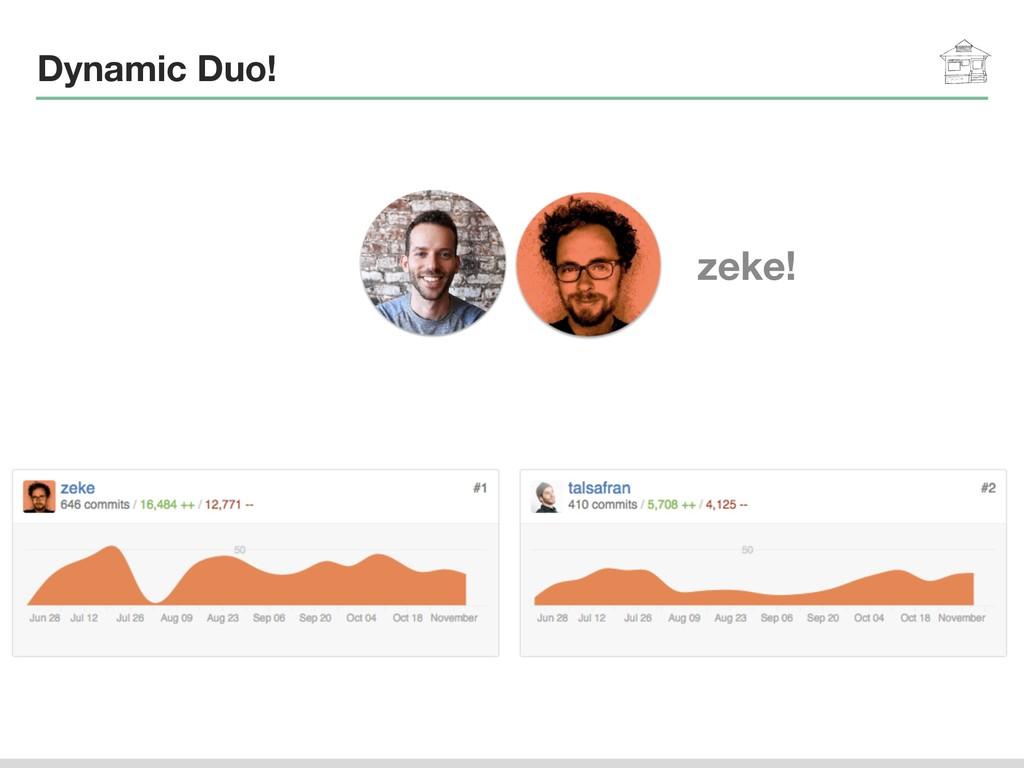 Dynamic Duo! zeke!