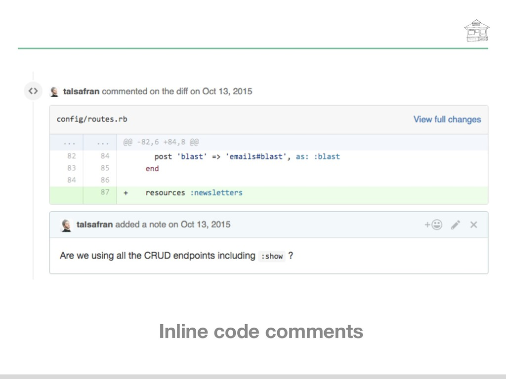 Inline code comments
