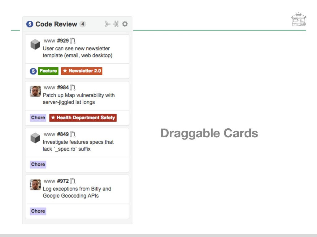 Draggable Cards