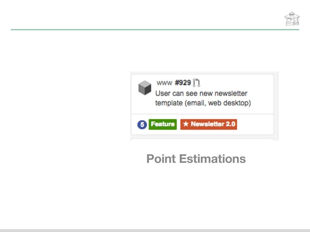 Point Estimations