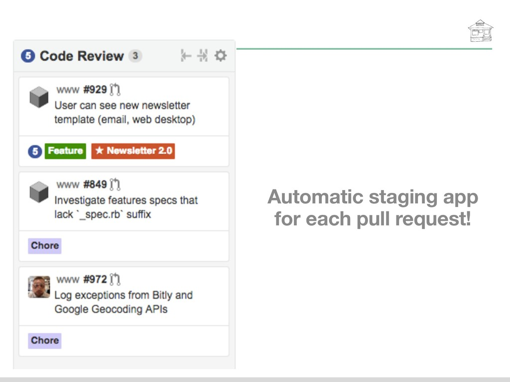 Automatic staging app for each pull request!