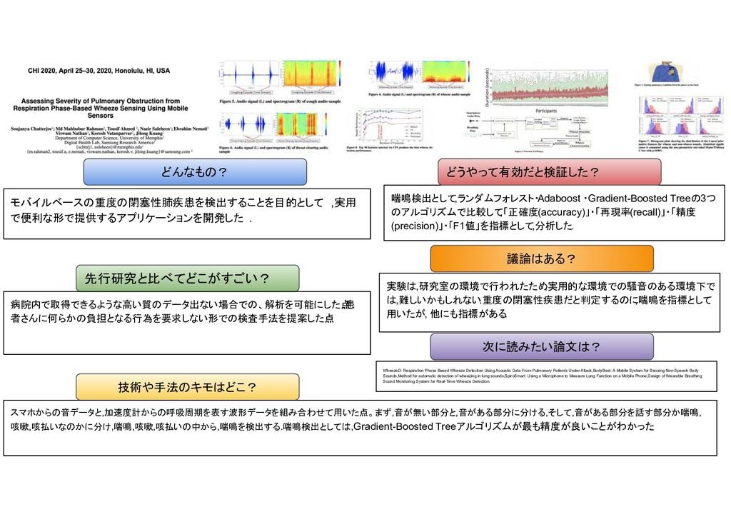 重度 閉塞性肺疾患 検出 目的 , 実用 便利 形 提供 ョン 開発 . 先行研究 比べ い?...