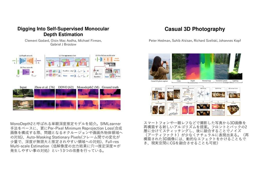 スマー ンや一眼 撮影した写真 3D画像 再構築す 新しいアル ム 提案 ロン ッ の2 層 ...