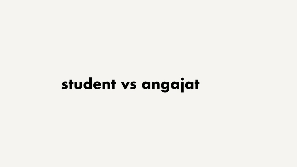 student vs angajat