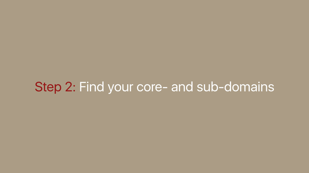 Step 2: Find your core- and sub-domains